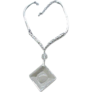 Beautiful Tortolani Necklace - Large Crystal Pendant