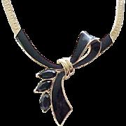 Lovely Kunio Matsumoto Black Bow Necklace