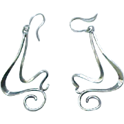 Exuberant Artisan Sterling Earrings - Pierced Ears