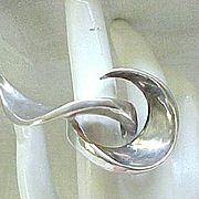 Fascinating Modernist Sterling Silver Ring - Must See!!  Size 7