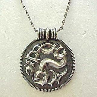Sterling David Andersen Medallion Necklace - Ancient Design