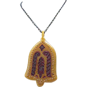 Czech Egyptian Revival Necklace - Vintage