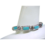 Nice Sterling Silver and Turquoise Bracelet
