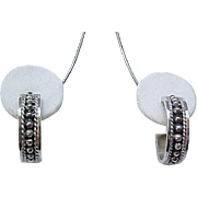 Substantial Sterling Silver Half Hoop Earrings - Superb Design