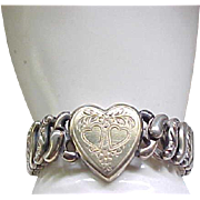 Pitman and Keeler Sweetheart Expansion Bracelet - Sterling Base