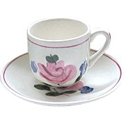 Blue Ridge Pottery Wee One Demi Cup and Saucer