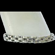 Sterling Silver Tank Track Bracelet - Nice