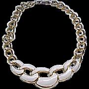 Classy Napier Cream Enamel Necklace