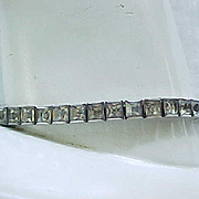 Lovely Sterling Art Deco Rhinestone Bracelet