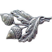 01 - Sterling Silver Acorn and Oak Leaf Pin