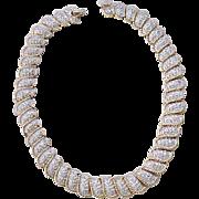 Elegant Carolee Rhinestone Necklace and Earrings