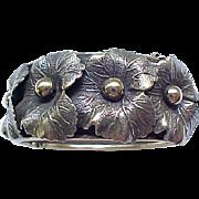 Marvelous Coro Pegasus Wide Bracelet, Floral Overlay