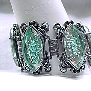 FAB Elizabeth Morrey Bracelet, Earrings - Molded Glass - Huge