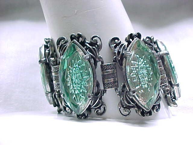 FAB Elizabeth Morrey Bracelet, Earrings - Molded Glass - Huge