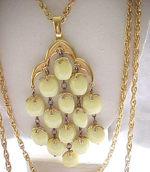 Lemon Yellow Trifari Waterfall Necklace