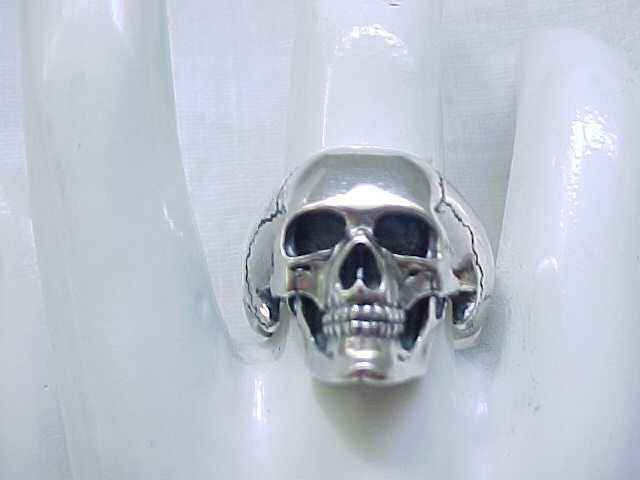 Sterling Silver Skeleton Ring - Exceptional - Size 8 1/2