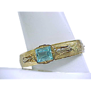 1930/'40's Bracelet with Aqua Stone - Like New