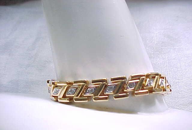 Classy D'Orlan Goldtone & Rhinestone Bracelet