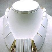 Chunky Parklane MOD Necklace White & Goldtone