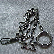 10 - Vintage Watch Chain with Sterling Clasp