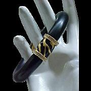 Stunning Elizabeth Taylor Zebra Stripe Bracelet - MIB