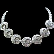 Lovely Karu Victorian Revival Necklace - Silvertone