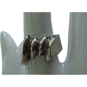 Mod Sterling Silver Ring - Size 7 1/2