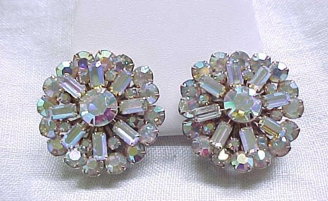 11 - Glamorous Aurora Borealis Clip Earrings