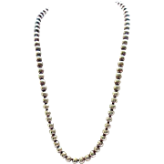 Phenomenal Sterling Silver Bead Necklace - 70 Grams