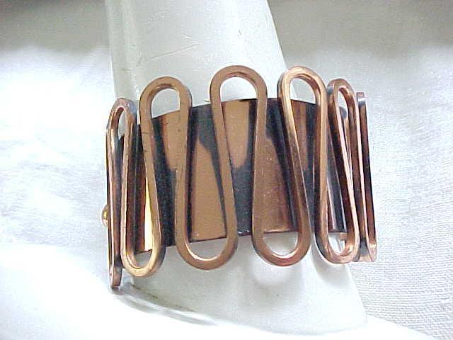 02 - Renoir Rondele Copper Bracelet - Anodized Accents