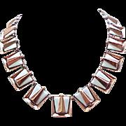 Renoir Matisse Copper and Enamel Necklace, Earrings
