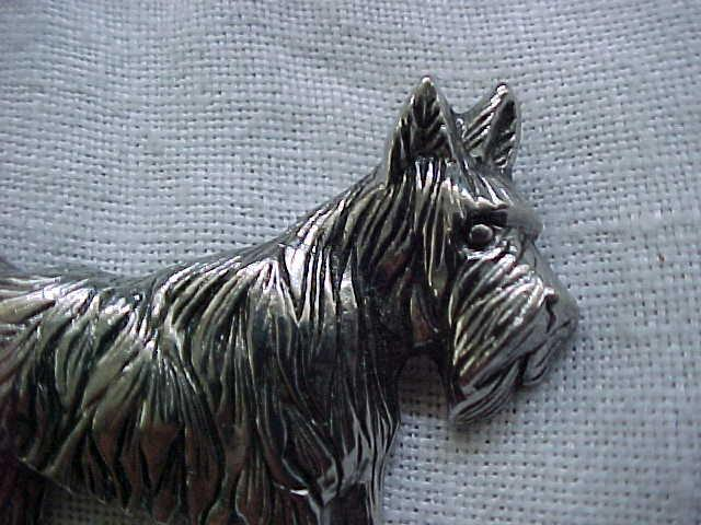 Exceptional Sterling Silver Scotty Dog Pin
