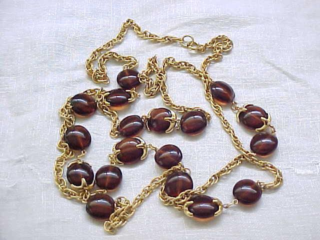 Trifari Rootbeer Waterfall Companion Necklace