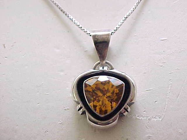 Sterling Pendant Necklace, Earrings - Very Pretty