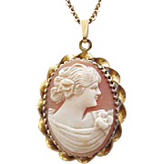 Lovely Shell Cameo Necklace Simmons