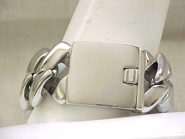 """Massive Stainless Steel Bracelet - 9"""" x 1 1/4"""""""