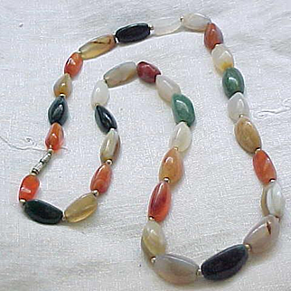 12 - Beautiful Natural Stone Necklace, Great Variety and Color