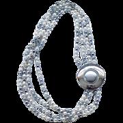 Pretty Trifari Faux Pearl Necklace - Stylish Clasp