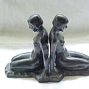 Stunning Art Deco Nude Bookends