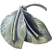 02 - Danecraft Sterling Double Leaf Pin