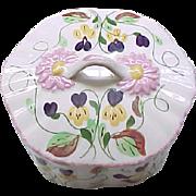 Beautiful Blue Ridge China Box - Dogtooth Violets - Southern Potteries