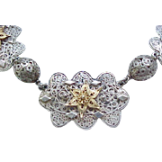 Gorgeous Sterling Filigree Necklace