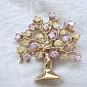 Gorgeous Francesca Visconti Tree of Life Brooch Pin