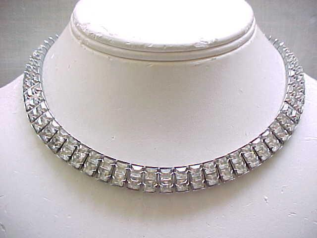 Beautiful Art Deco Rhinestone Parure - Necklace, Bracelet & Earrings