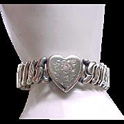 Lovely LaMode Sweetheart Expansion Bracelet - Rose Gold Flower