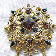 Gorgeous Florenza Renaissance Style Pin/Pendant Necklace