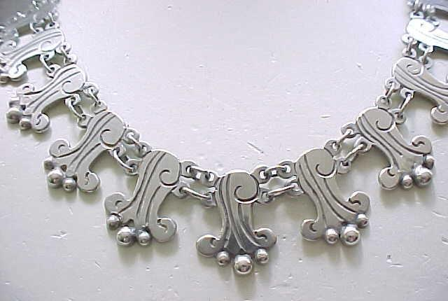 Fantastic Sterling Silver Necklace - Taxco 980