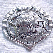 Delightful Sterling Silver Angel Fish Pin