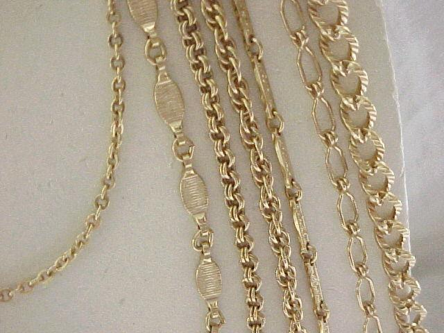 01 - Napier 7 Chain Necklace - Goldtone
