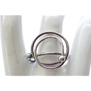 Mod Sterling Silver Ring - Birmingham - Size 8 1/2